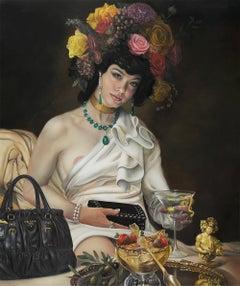 David Bowers, Goddess of Decadence, oil on canvas