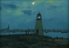 Palmer Island Light, New Bedford, MA. c. 1870, 2020