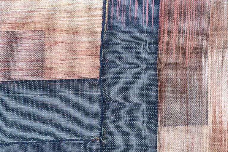Untitled #73 Natural and Synthetic Fiber and Dye  62 x 62 x 1.5 in  Recently on view in our exhibition,