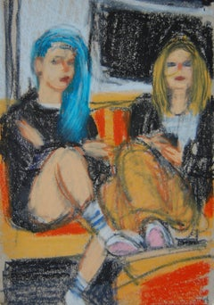 Teenagers with Blue Hair and Nose Chain