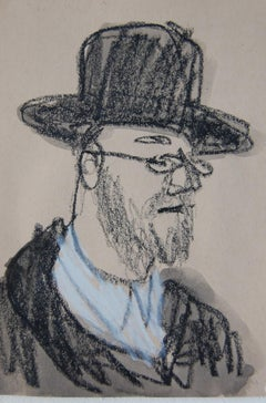 Man with Brimmed Hat and Beard
