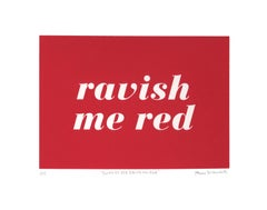 Revlon No. 654: Ravish Me Red Screenprint Edition 1