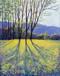 The First Cuckoo of Spring, contemporary landscape painting, Impressionist Style