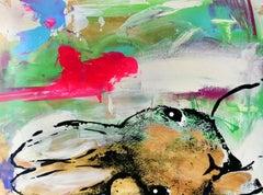 Listen…, Harry Bunce, Contemporary, Animal art, Rabbit