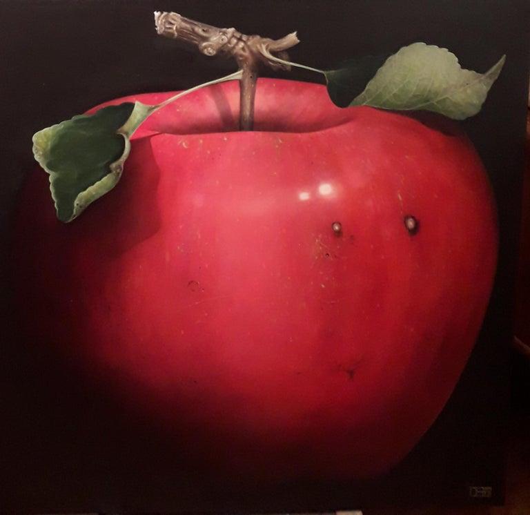 Planet Apple: The Fairest Of Them All, Dani Humberstone, Original art, fruit art - Painting by Dani Humberstone