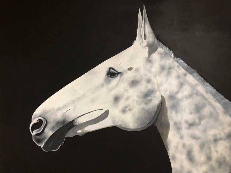 Dapple, Zoe Louise, Animal Art, Horse, Affordable art - Painting by Zoe Louise