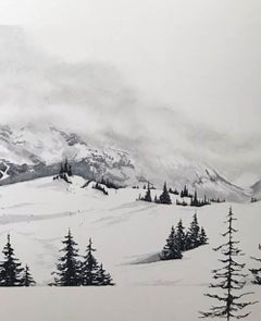 Les Arcs, France, photographic style realist art , original art for sale