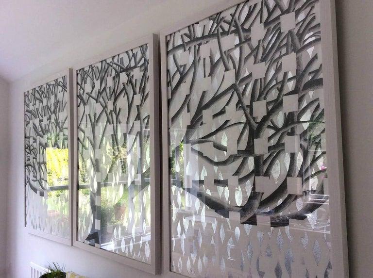 Lorraine Thorne, Beatrice's Tree, Original Work on Paper, Landscape, Nature - Gray Landscape Art by Lorraine Thorne