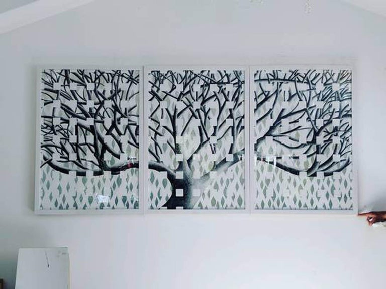 Lorraine Thorne, Beatrice's Tree, Original Work on Paper, Landscape, Nature - Art by Lorraine Thorne
