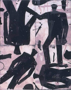 Four Figures, Graham Fransella, Limited Edition Four Panel Etching, Silhouette