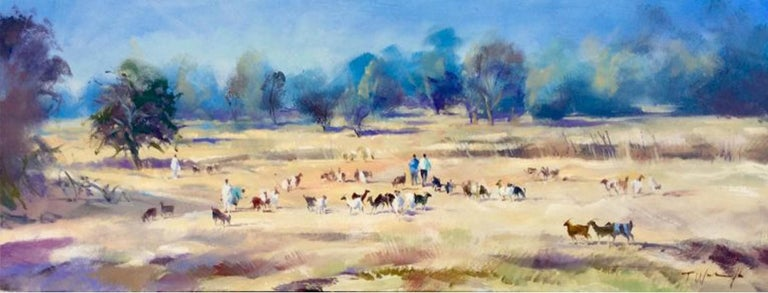 Goat Herders, Morocco Trevor Waugh Oil on canvas Unframed Orientalism Landscape Paintings