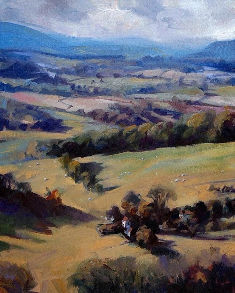 The Malvern Hills Trevor Waugh Oil on canvas Landscape painting