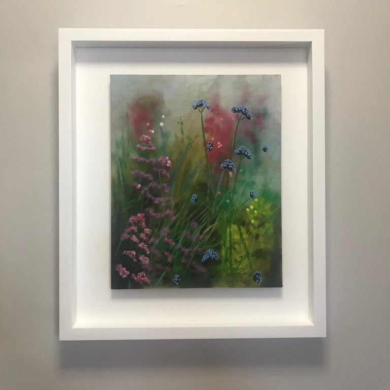 Island Garden Border III, Floral Painting on Board by Dylan Lloyd for Sale For Sale 10
