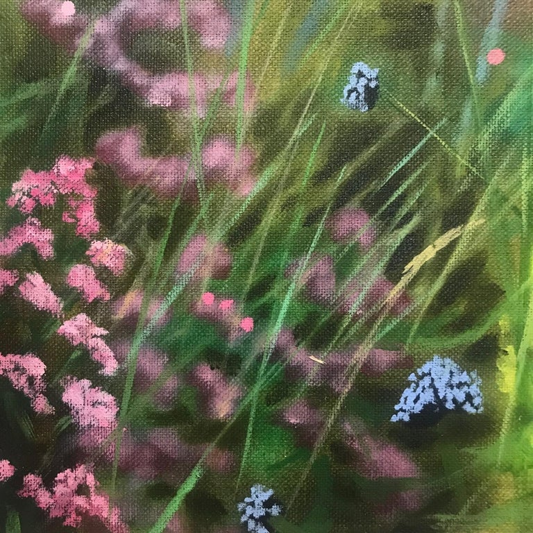 Island Garden Border III, Floral Painting on Board by Dylan Lloyd for Sale For Sale 2