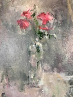 Pink Roses, Jemma Powell, Original Contemporary Oil Painting, Signed and Framed