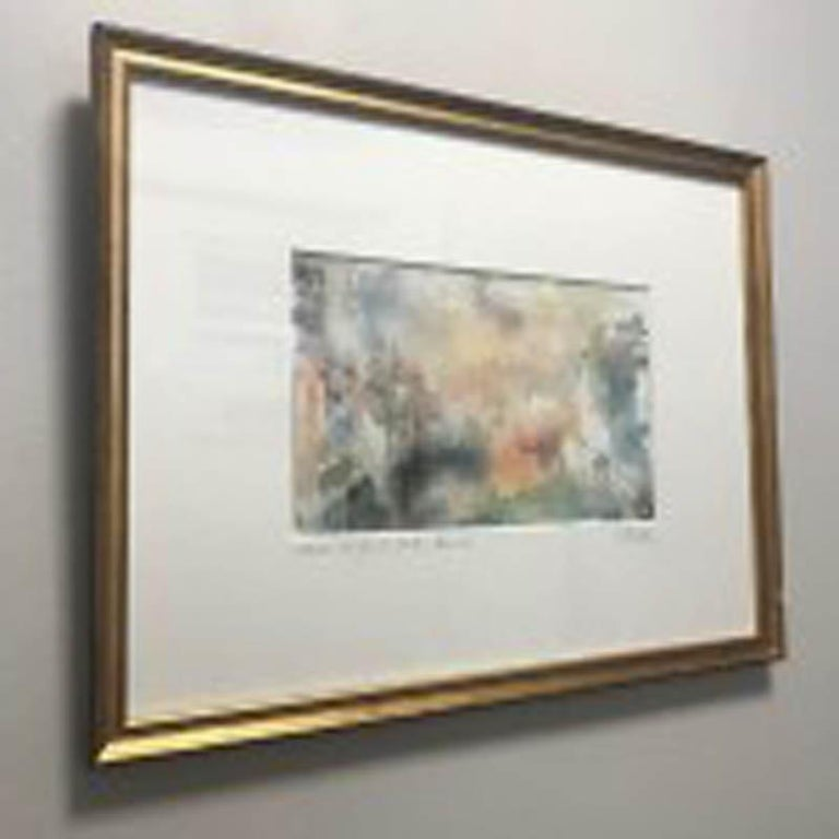 Grand Canal at Dusk, Venice by Jemma Powell Water Colour on Paper Sold Framed Signed JP in the bottom right hand corner and on reverse of the frame  Board Size – 25 x 33 cm Frame Size – 28 x 36 cm  Creation Year: 2019
