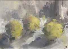 Three Lemons I BY JEMMA POWELL, Original Contemporary Oil Painting, Still Life