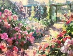 The Long Garden, Trevor Waugh, Original Contemporary Oil Painting on Board
