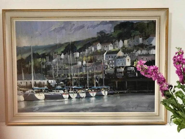 Dartmouth Harbour, Trevor Waugh, Devon Art, River Dart, Original Oil Painting For Sale 1