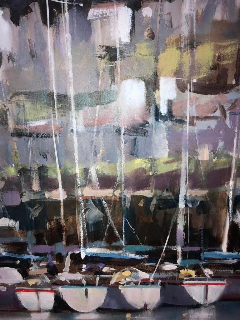 Dartmouth Harbour, Trevor Waugh, Devon Art, River Dart, Original Oil Painting For Sale 4