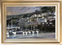 Dartmouth Harbour, Trevor Waugh, Devon Art, River Dart, Original Oil Painting