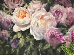 Trevor Waugh, Rose Bouquets, Contemporary Framed Still Life Flower Painting