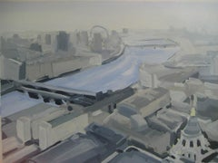 Blackfriars Bridge and Westminster BY SARAH ADAMS, Contemporary Original Art