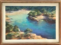 Trevor Waugh, Blue Core Menorca, Original Oil Painting for Sale Online, Menorca