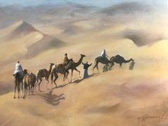 Trevor Waugh, The Rhub Al Khali, Original Oil Painting for Sale Online, Desert