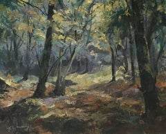 Trevor Waugh, Forest Tapestry, Original Oil Painting, Contemporary Art