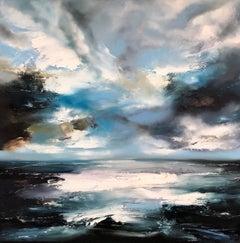 Beckoning of Distant Waters – Helen Howells – Original Seascape Oil Painting
