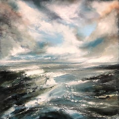 A New Dawn – Helen Howells – Original Seascape Oil Painting – 91cm x 91cm