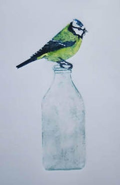 Blue Tit BY SUE BROWN, Animal Art, Bird Art, Limited Edition Animal Print Art
