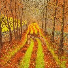 Autumn Lane, Mark Pearce, Contemporary Limited Edition Landscape Prints for Sale