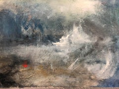 Jemma Powell, Red Buoy in Storm, Original Oil Seascape Painting, ContemporaryArt