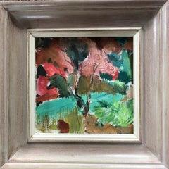 Jemma Powell, Ibiza Garden, Original Abstract Gouache Landscape Painting
