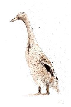 Duck 1 BY ZAZA SHELLEY, Animal Art, Contemporary Original Bird Paintings forSale