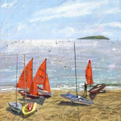 James Bartholomew, Mirror Dinghies 3, Abersoch, Limited Edition Giclee Print