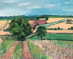 Walking out from Deddington BY ELEANOR WOOLLEY, Original Landscape Oil Painting