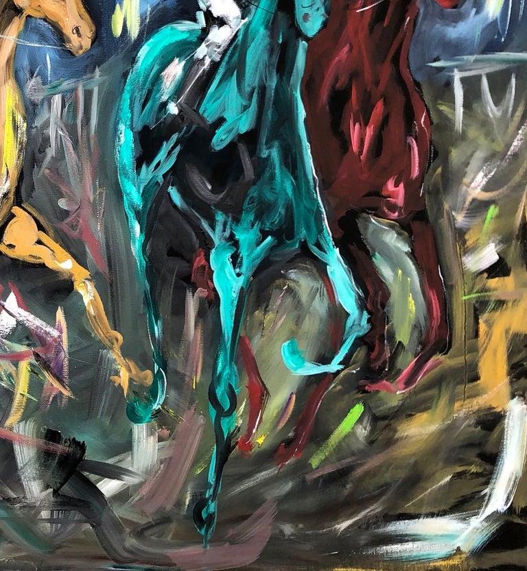 Garth Bayley, Chasing the Banker, Horse Art, Animal Art for Sale, Original Art For Sale 2