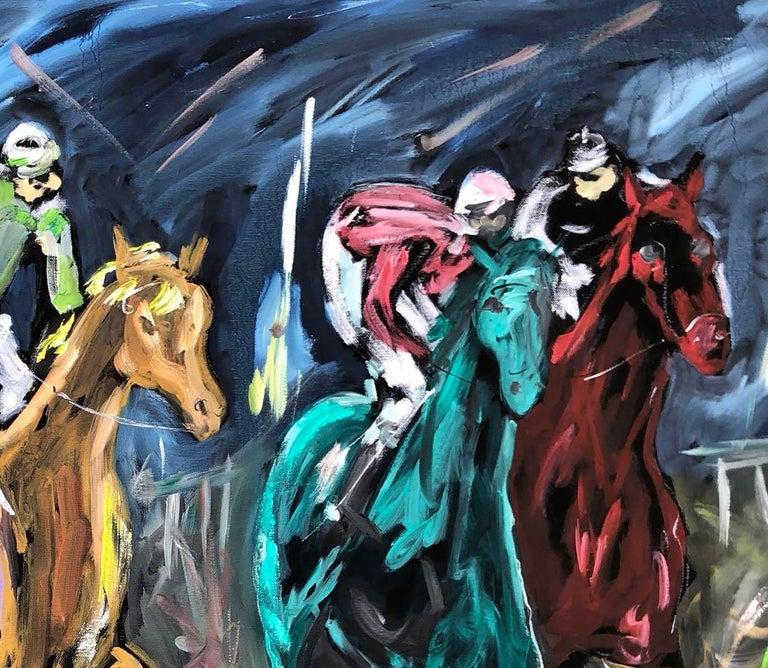 Garth Bayley, Chasing the Banker, Horse Art, Animal Art for Sale, Original Art For Sale 3