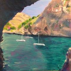 Sa Calobra, Majorca, Peri Taylor, Impressionist Landscapes, Original Painting