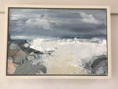 Stormy Sea BY JEMMA POWELL, Original Oil Painting, Contemporary Seascape Art