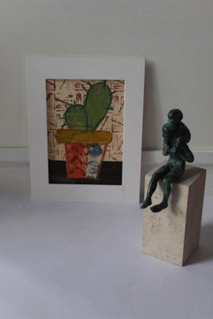 Cactus I BY JENNY BALMER, Original Painting for Sale , Contemporary Art