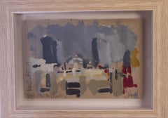 Jemma Powell, Sunny Say in Manchester, Original Oil Painting, Cityscape Art