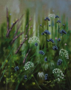 Dylan Lloyd, Island Garden Border VI, Original Landscape Painting, Floral Art