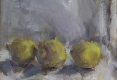 Jemma Powell, Three Lemons, Original Oil Painting for Sale