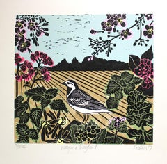 Wayside Wagtail BY KATE HEISS, Landscape Art, Nature Art