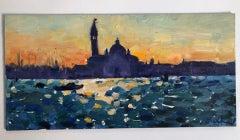 Venice Sunrise by Grabrielle Moulding, Bright Art, Venice Painting, Original Art
