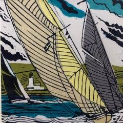 John Scott Martin, Off St Anthony's Lights, Bright Boat Art, Sailing Prints